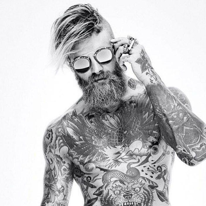 Men style tattoo
