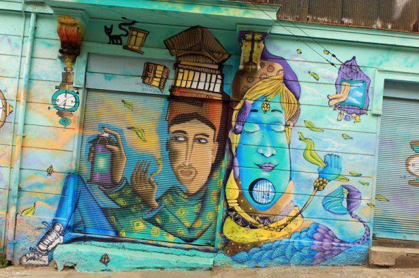 #Impulseearth #Graffifi #Street Art #Geenie in a bottle #Valparaiso #Chile