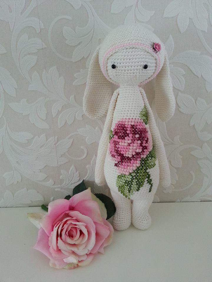 RITA the rabbit made by Anja van der Sch. / crochet pattern by lalylala
