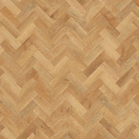 Karndean Art Select AP01 Blond Oak Parquet Flooring laid herringbone.