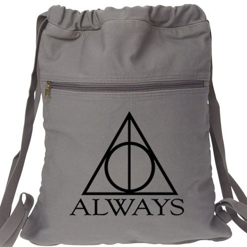 Always Harry Potter Backpack. Canvas Drawstring Deathly Hallows Book Bag Design. Shop for cute backpacks for women, men, girls and boys. Custom graphic fun and functional backpack, school Bag, travel
