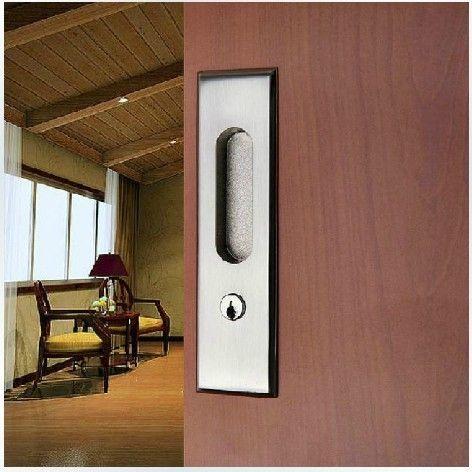 57.98$  Watch more here - http://aiy6j.worlditems.win/all/product.php?id=32480326476 - Move the door of modern steel wire drawing sliding door lock hook hanging sliding door embedded toilet door lock