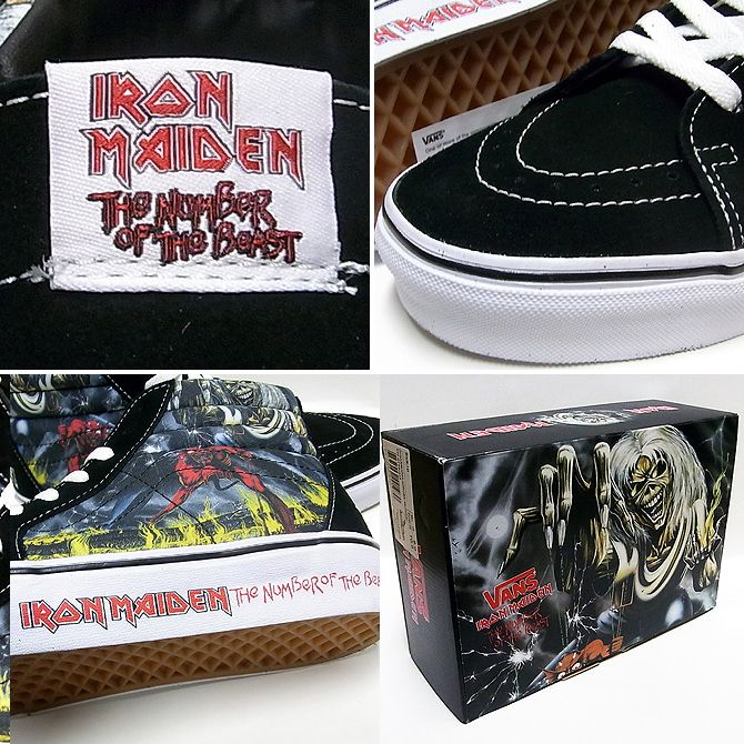 New rare vans limited sk8-hi top iron maiden number of the beast shoes  sneakers  5014a8b445b