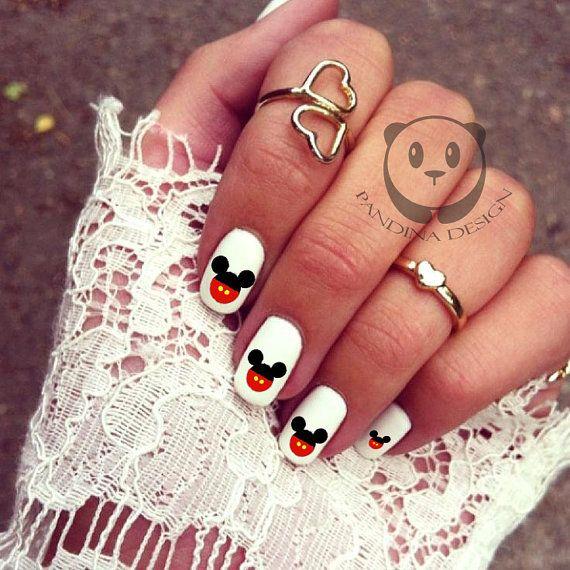 Mejores 48 imágenes de mickey mouse nails en Pinterest   Arte de ...