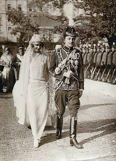 Prince Paul of Yugoslavia , Prince Regent of Yugoslavia (1934-1941) & Princess Olga of Greece + Denmark {1923} in Belgrade , Yugoslavia /Serbia