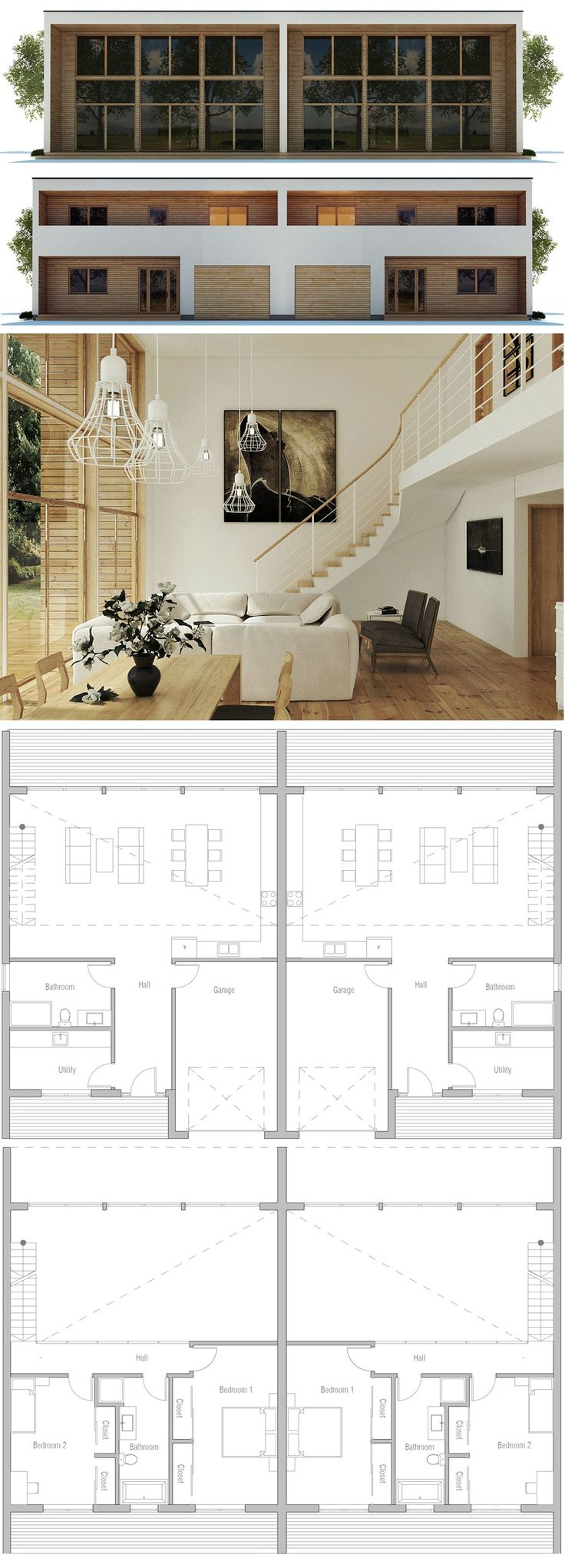 Best 20 duplex house ideas on pinterest for Maison duplex plan