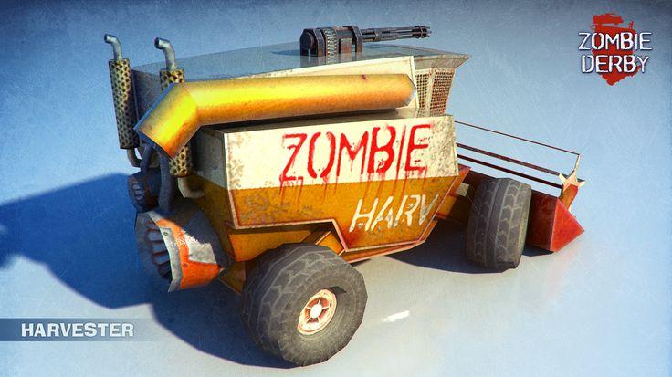 Here is the link to the full album of #killer #cars on imgur http://imgur.com/a/R9Fl9  #Zombie #3D #art #gameart #car #imgur