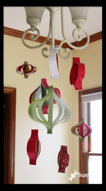paper strip ornament mobile
