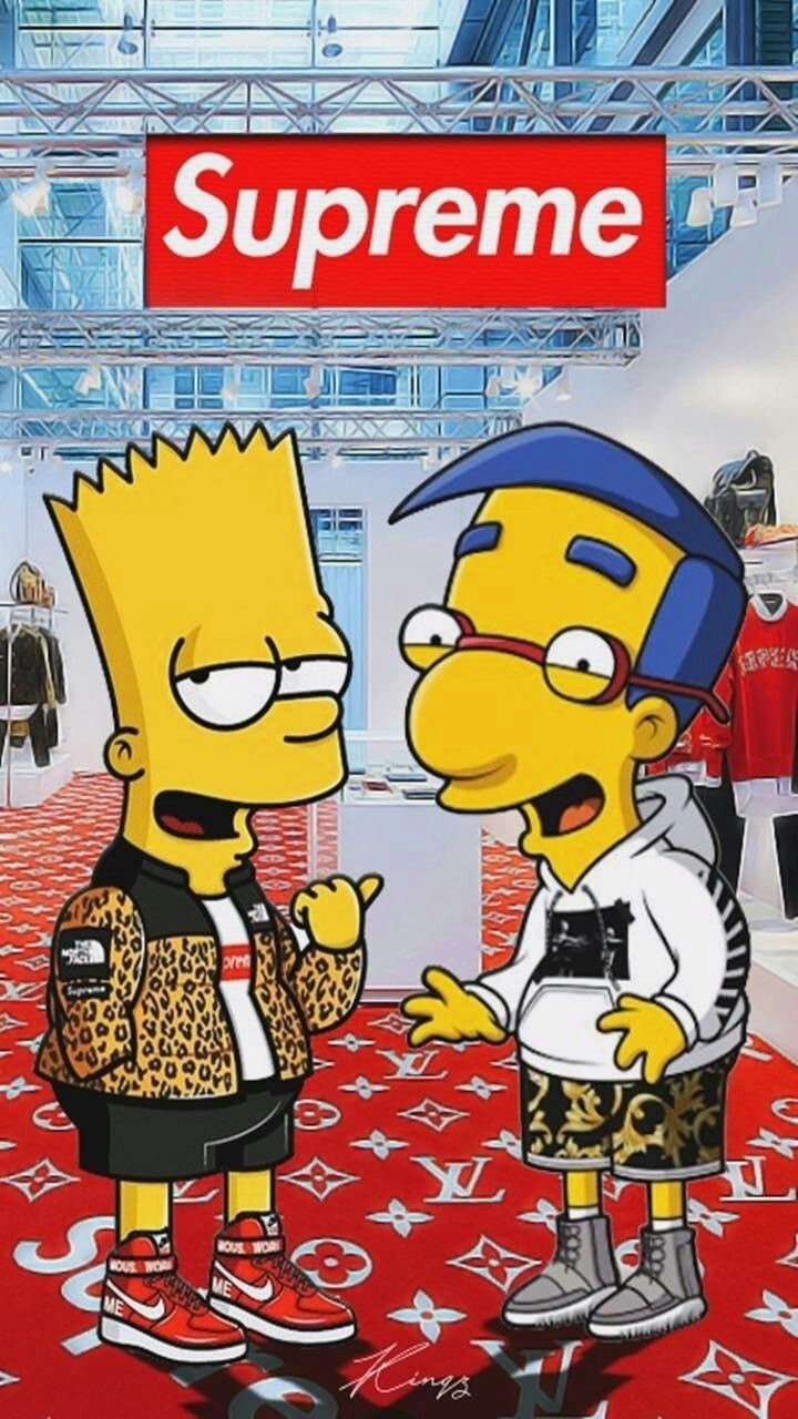 Suprime Supreme Wallpaper Hd Simpson Wallpaper Iphone With Simpsons Supreme Wallpapers In 2020 Supreme Wallpaper Hd Supreme Wallpaper Simpson Wallpaper Iphone
