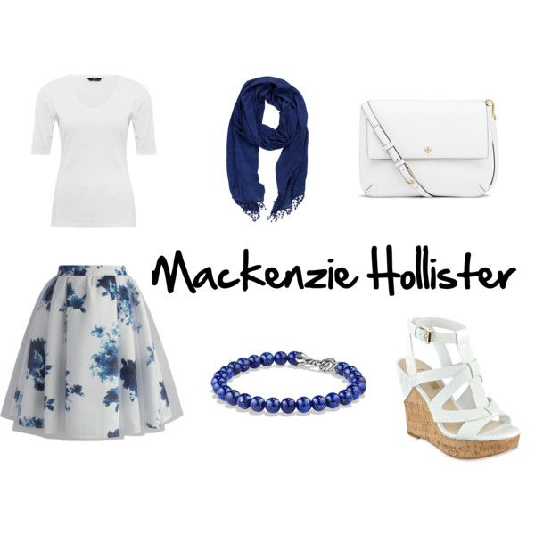 Mackenzie Hollister (from dork diaries) by bugmack on Polyvore featuring M&Co, Chicwish, GUESS, Tory Burch, David Yurman and La Fiorentina