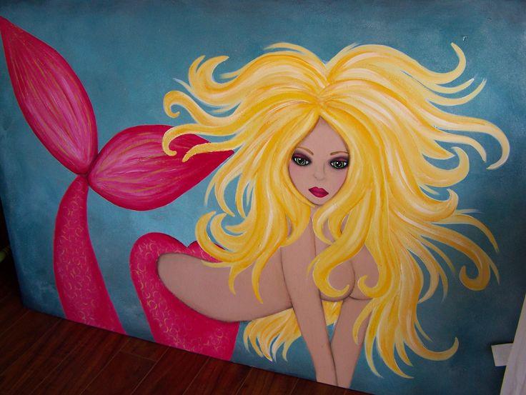 Mermaid artwork - sold.