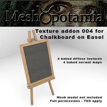 Meshopotamia Chalkboard on Easel Texture addon 004