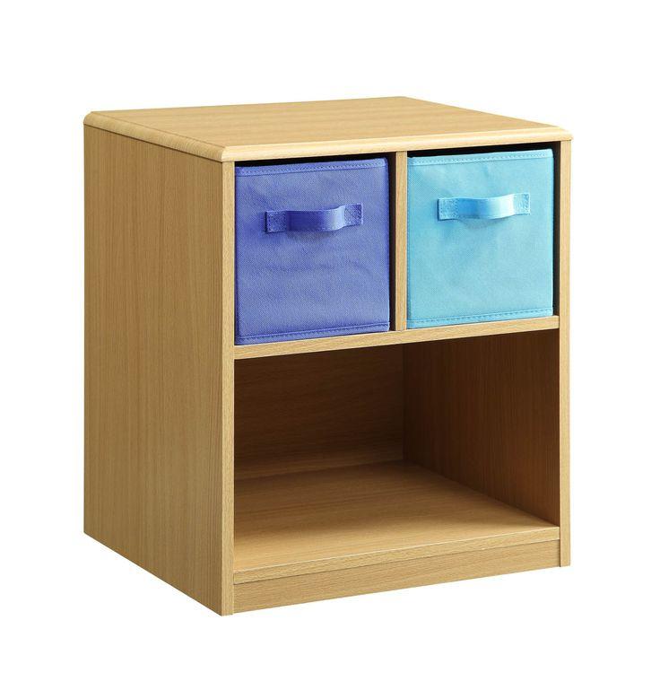 Michael Anthony Furniture Michael Anthony Furniture Boyu0027s Side Table/Stand  With Storage Bins
