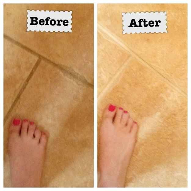 8. Use Resolve to clean your grout.
