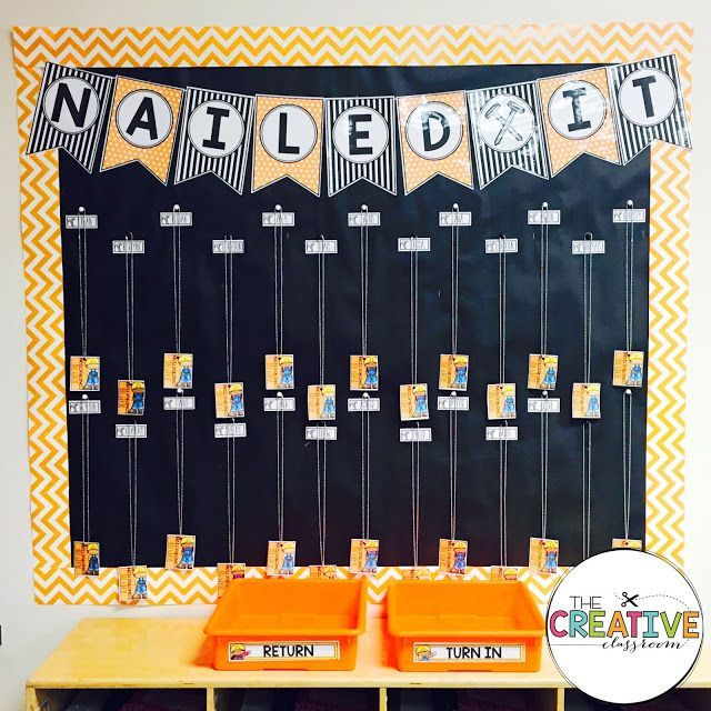 Construction Theme Classroom Decor Brag Tag bulletin board