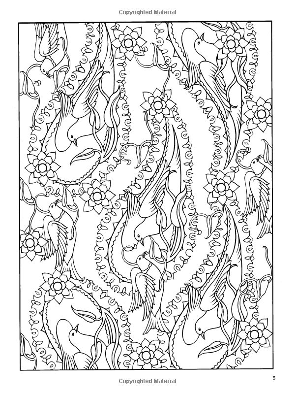 Paisley Designs Coloring Book Dover Design Books Marty Noble 0800759456420
