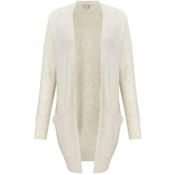 Miss Selfridge Cream Slouchy Knitted Cardigan ($61) ❤ liked on Polyvore featuring tops, cardigans, cream, slouchy cardigan, miss selfridge, cardigan top, white cardigan and cream cardigan