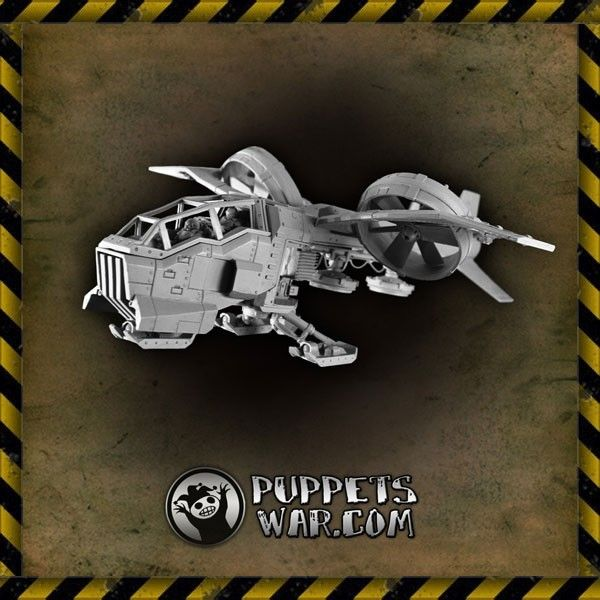 Dragonfly aircraft - perfect for carrying assault unit on a deep strike covert mission.  https://puppetswar.eu/product.php?id_product=187