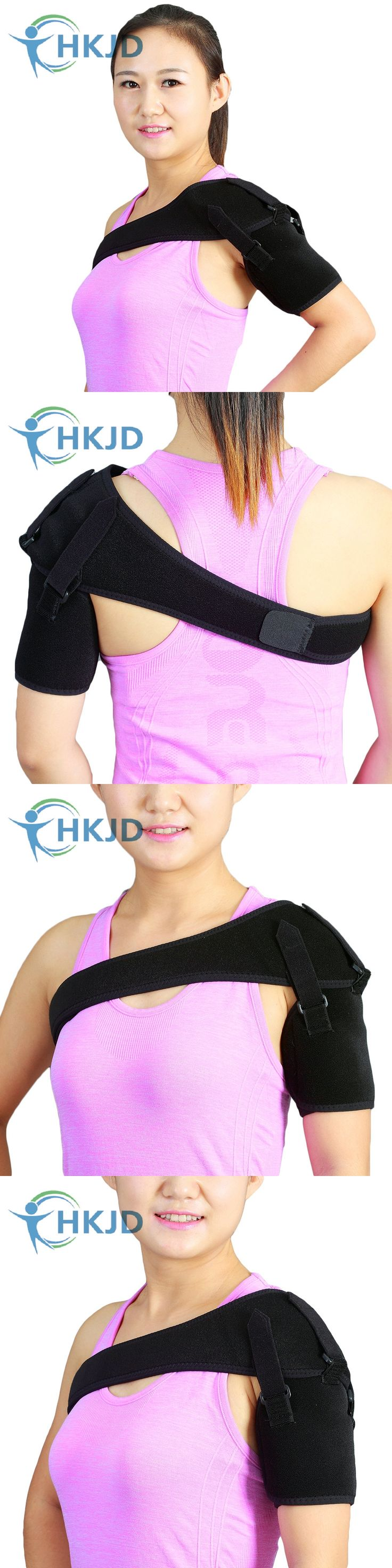 Double Adjustable Medical Shoulder Brace & Support Strap For Shoulder Dislocation Subluxation Stroke Hemiplegia Recovery