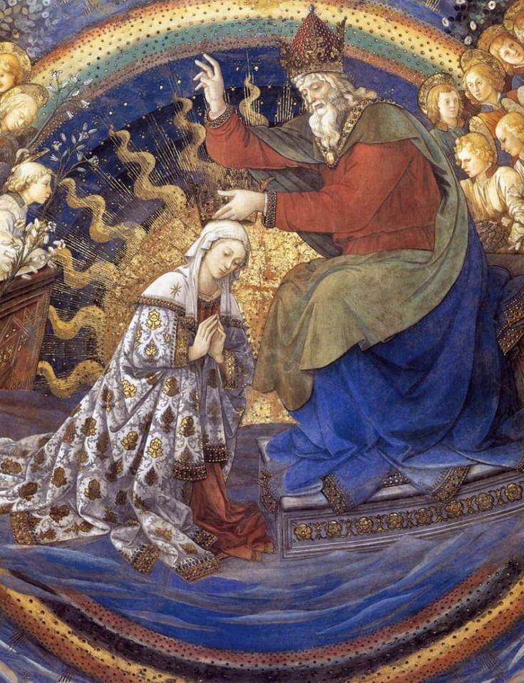 Коронование Богоматери. Деталь. 1467-69 гг.Фра Филиппо Липпи.Дуомо, Сполето. Фреска.