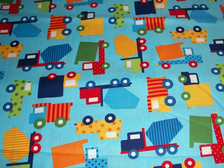 Trucks; Ready Set Go Work cotton Crib/toddler fitted sheet by SunshineBabyandQuilt on Etsy https://www.etsy.com/listing/231968331/trucks-ready-set-go-work-cotton