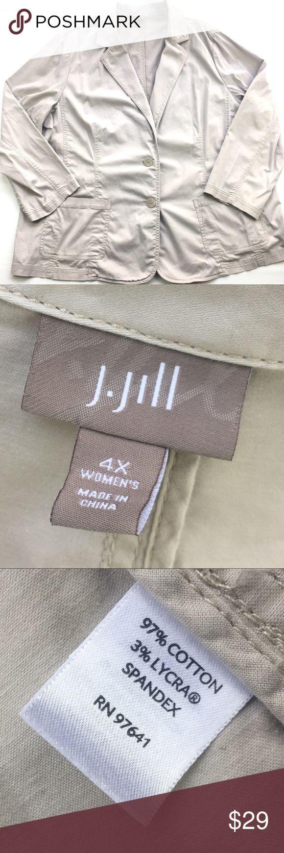 Tendance salopette 2017  {J. Jill} Beige Blazer Jacket J. Jill beige blazer/jacket. Has a few small stain