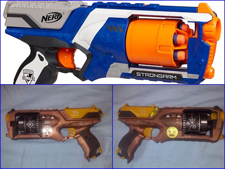 Arma steampunk, pistola steampunk, Nerf