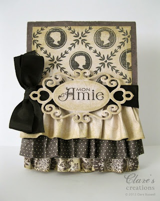 card by Clare BuswellBeautiful Cards, Paper Crafts Magazine, Beautiful Ruffles, Black Bows, Pretty Cards, Paper Ruffles, Mon Amy, Cream Cards, Black Cards