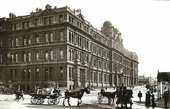 Victorian Railway Offices at 67  Spencer St,Melbourne in Victoria in 1909. •Victorian Heritage•