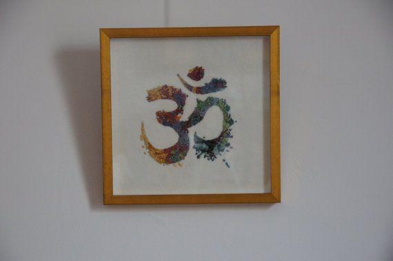 Hindu Om icon in a Gemstone Painting by GemArtCreations on Etsy