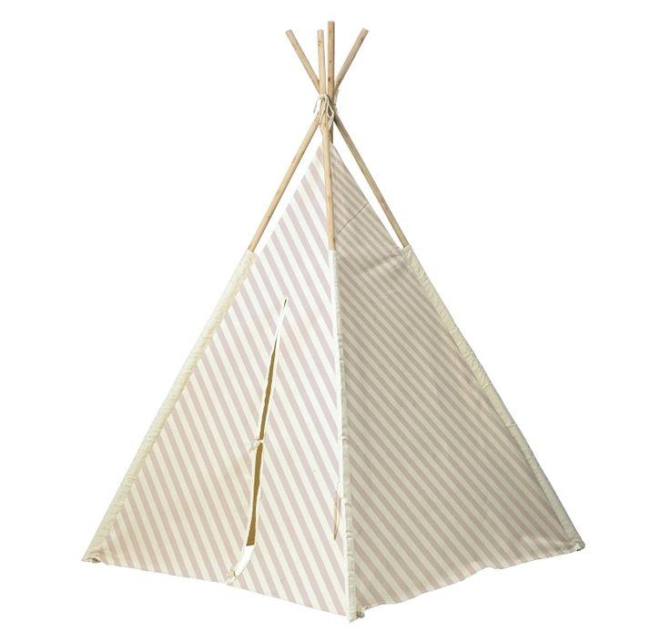 Bloomingville Kinder Tipi-Zelt Streifen puderrosa/weiß H160cm bei Fantasyroom online kaufen
