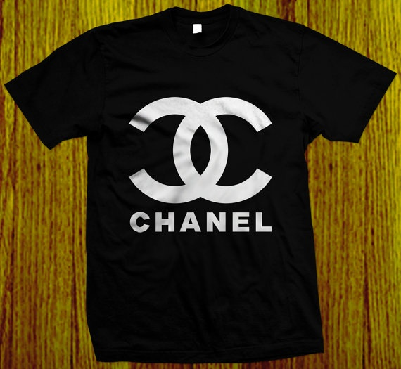 Chanel Logo For Men Black Shirt Rare S To Xxxl By