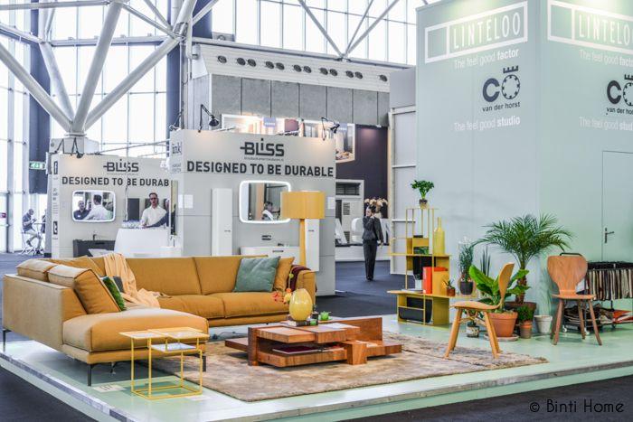Binti Home Blog: Woonbeurs blogs 2013, yellow couch, linteloo, colorblocking interior