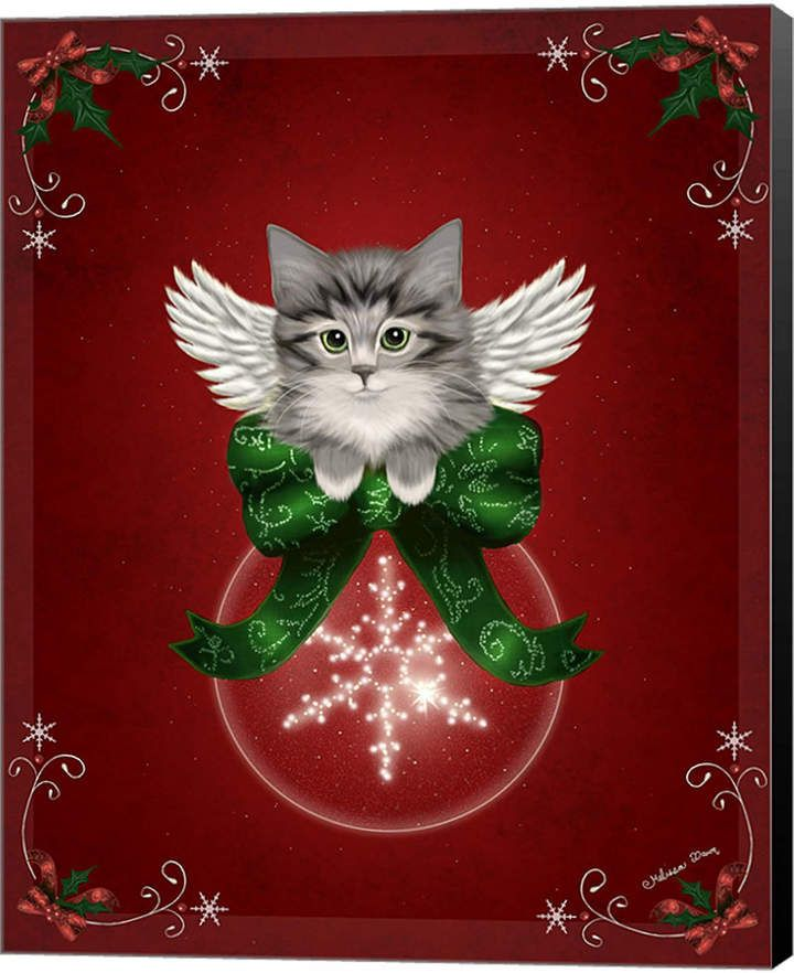 Happy Holidays Cat By Melissa Dawn Canvas Art Christmas Cats