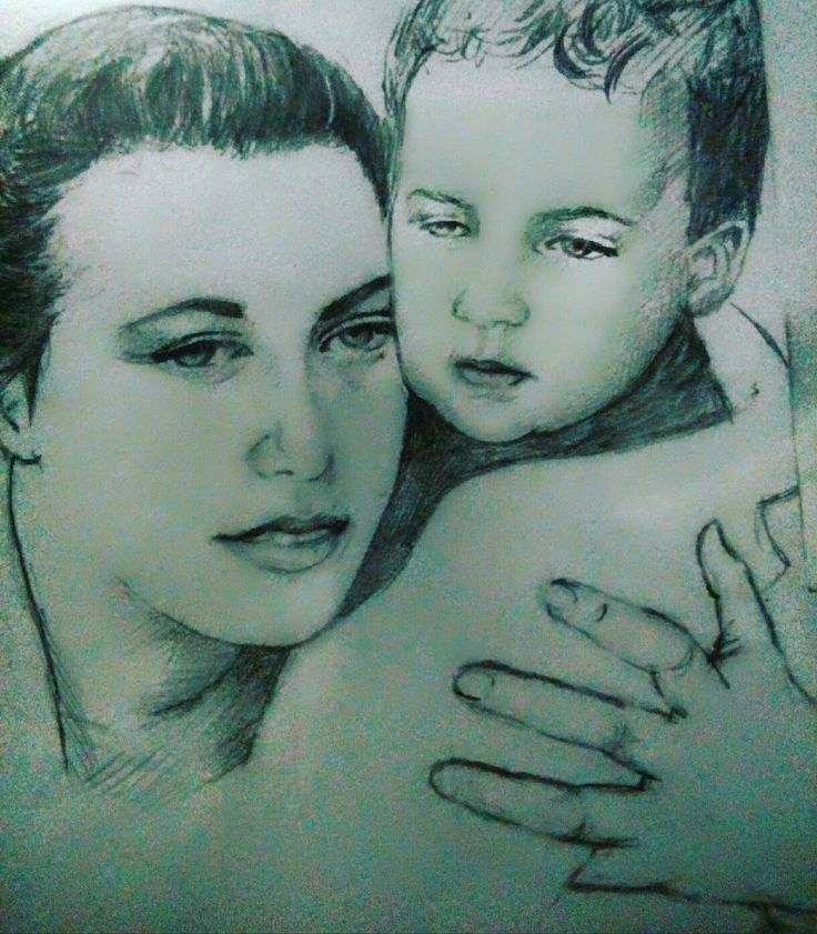 My son and I.  I drew this about 4 years ago.