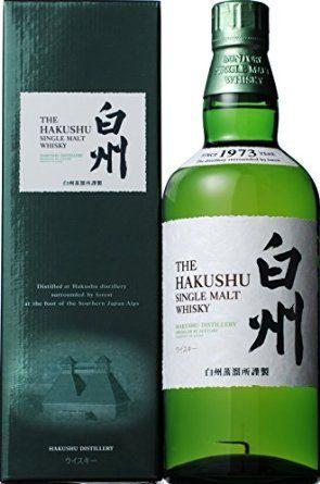 サントリー  シングルモルト 白州  43% 700ml ギフト化粧箱付HAKUSHU  single malt whisky No  Age Statement 43% 70cl with an original box  Suntory