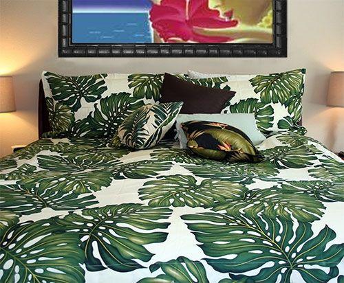 Tropical Leaf Bedding Set Home In 2019 Bed Duvet