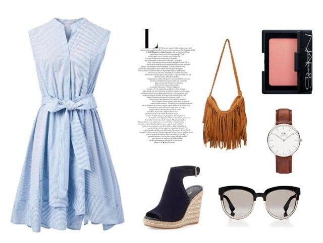 Untitled #6 by chloe-huguenin on Polyvore featuring polyvore fashion style Chicwish Prada Christian Dior Daniel Wellington NARS Cosmetics clothing