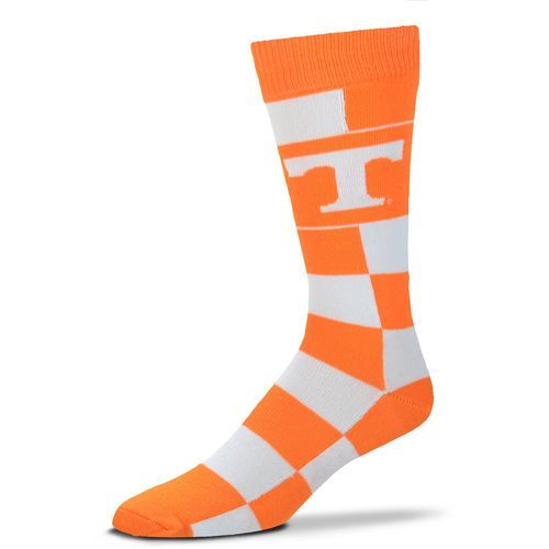 For Bare Feet University of Tennessee Jumbo Check Thin Knee High Dress Socks (Orange Light, Size One Size) - NCAA Licensed Product, NCAA Novelty at...