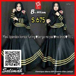 Baju Gamis Muslim Terbaru Syari Edisi Black