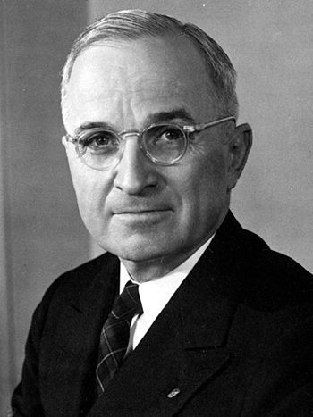 Harry S. Truman, the thirty-third President of the United States of America. http://www.go4quiz.com/512/us-president-quizzes-harry-truman-quiz-questions/