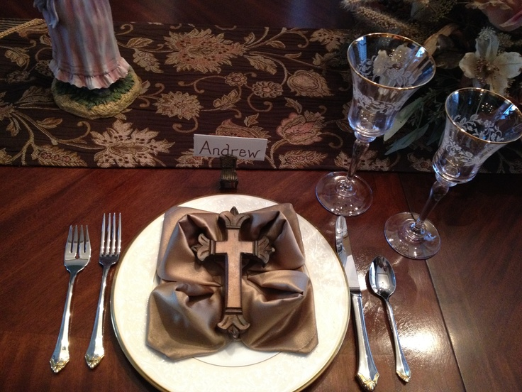 First Communion Place Setting