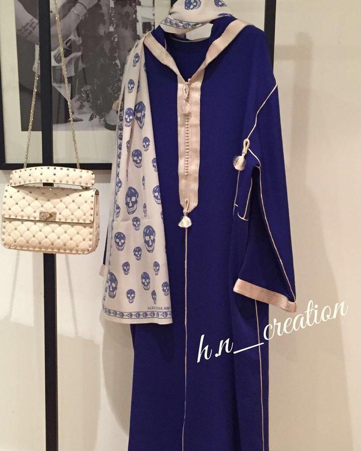 Djellaba en crêpe jebliya travaillée avec mâalem by H&N ✨ #HetN #creation #couture #djellaba #gandoura #caftan #tenue #robe #broderie #perlage #handmade #quality #morocco