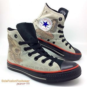 6aea84b5cfd0ac Converse-Womens-All-Star-Sailor-Jerry-Trainers-sz-5-Boys-VTG-Mens-37-5-LTD-US-7
