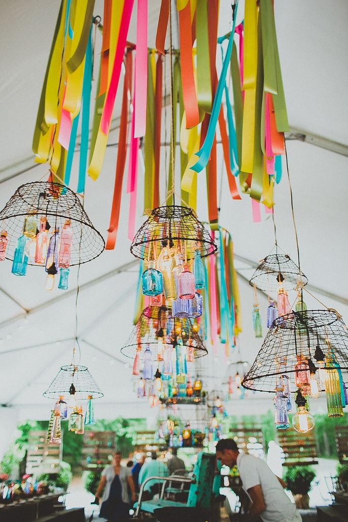 colorful reception #bright #wedding #decor #colorful