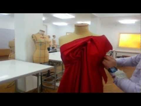 Dress my style. Free style draping, Design No 1 - YouTube
