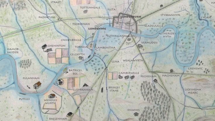 This amazing Londonist map showing the settlements in what is now London around the turn of the first millennium. Hamor Smydde, Fulanham, Brixges Tane: Sound familiar?   18 Beautiful And Weird Maps That Will Change How You Think About London