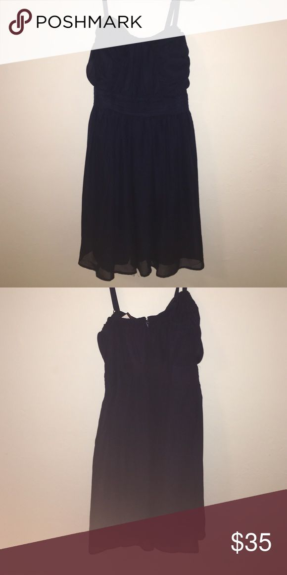 Navy Plus Size Dress New with tags! Never worn. Can be casual or dressy. It's chiffon. Feel free to ask any questions or make an offer :) Trixxi Dresses Midi