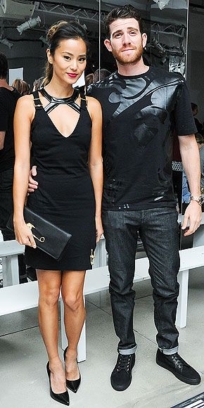 All the Stars at Fashion Week | JAMIE CHUNG AND BRYAN GREENBERG | The Celeb Style Council member and her husband-to-be go for coordinating edgy looks at the Versus Versace show.