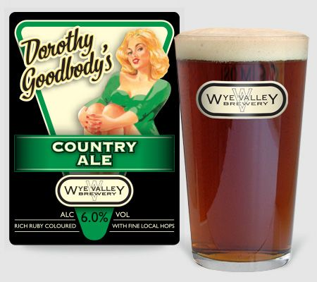 Dorothy Goodbody's Country Ale, A strong full-bodied ruby ale.  6.0% ABV #realale
